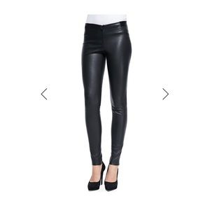 Alice and olivia leather leggings. NEVER WORN